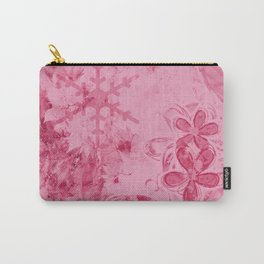 Rose Water Pink Splashes - Digital Abstract Texture Carry-All Pouch