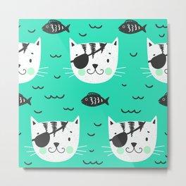 cats in the sea Metal Print