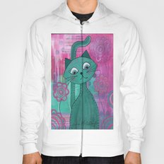 Green Kitty Hoody