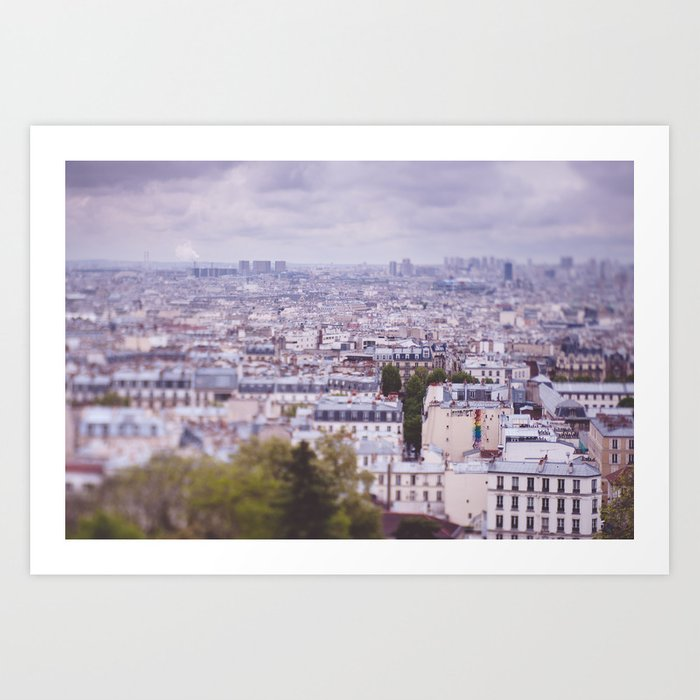 Paris seen from Montmartre Art Print