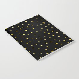 Brushed Gold Dots Notebook
