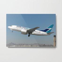 WestJet 737-700 takeoff photo Metal Print
