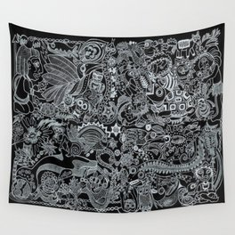 Ancient Figures II Wall Tapestry