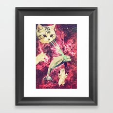 Galactic Cats Saga 2 Framed Art Print