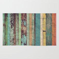 Wooden Vintage  Rug