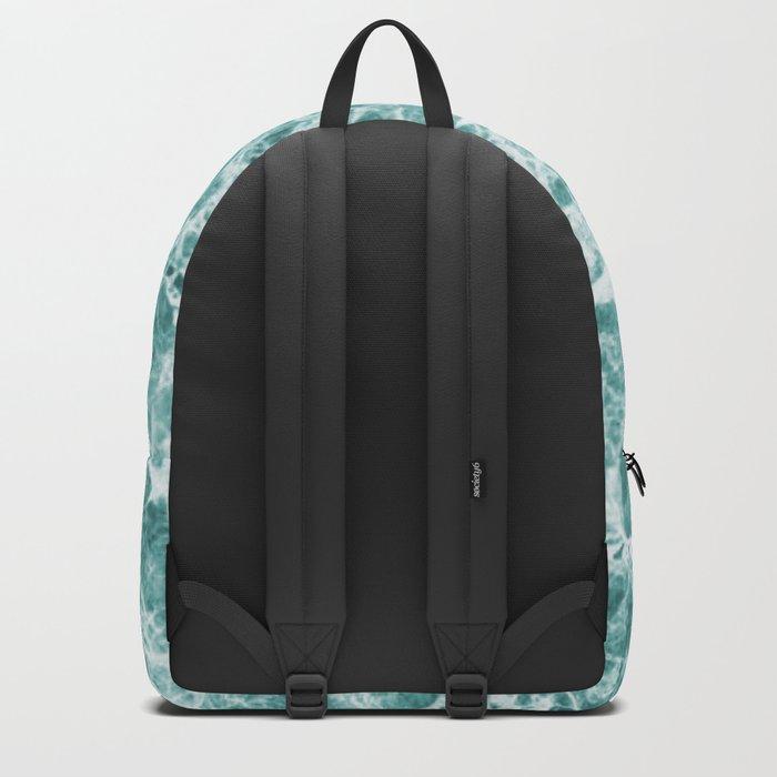Tropical Sea Green Marble Backpack