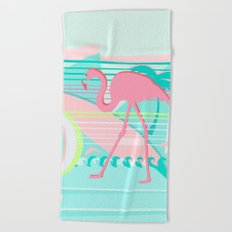 Flamingo Beach Fun Beach Towel