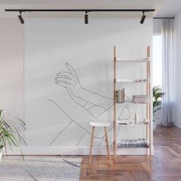 Nude figure line drawing illustration - Xandra Wall Mural