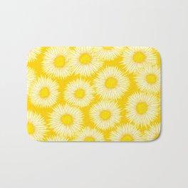 Yellow Sunflowers / Floral Pattern Bath Mat