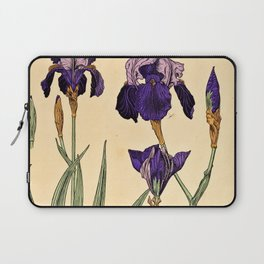 Maurice Verneuil - Iris germanique - botanical poster Laptop Sleeve