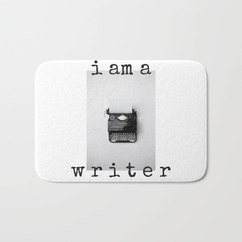 I am a Writer Theme Bath Mat