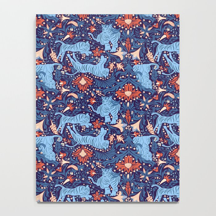 Floral Tiger Notebook