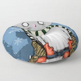 Snow Kitty Floor Pillow