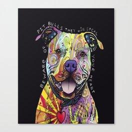 Colourful Pit Bulls, pit bull gift Canvas Print