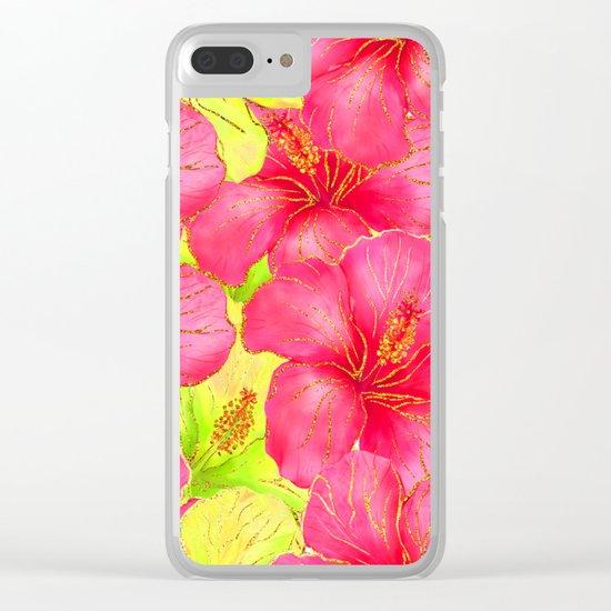 Summer glitter #11 Clear iPhone Case