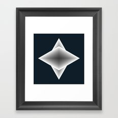 triangular elements Framed Art Print