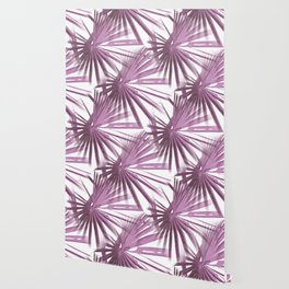Lilac on White Tropical Vibes  Beach Palmtree Vector Wallpaper