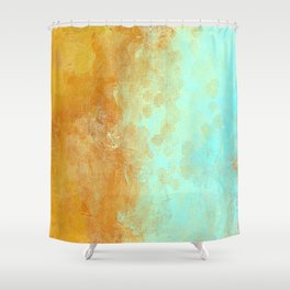 Earth and Water Abstract Shower Curtain