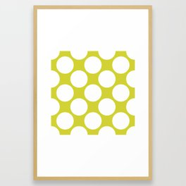 Polka Dots Green Framed Art Print