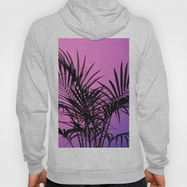 Palm tree in black with purplish gradient Hoody