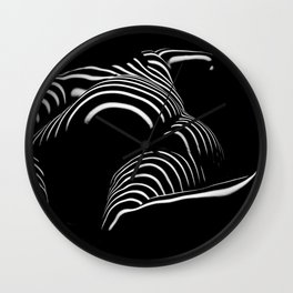 0758-AR BW Abstract Art Nude Striped Wall Clock