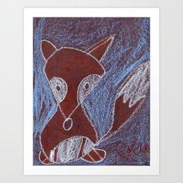 Rainforest Fox Art Print