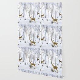 Winter Deer Wallpaper