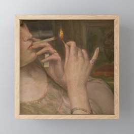 'After Leaving Suzanne, Midnight 'a portrait painting by Auguste Levêque Framed Mini Art Print