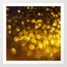 golden glitter Art Print
