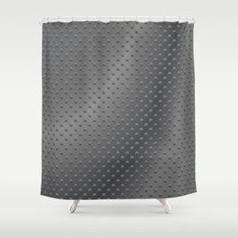 Dimpled Metal Texture Gunmetal Shower Curtain