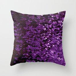 Purple Sequin Throw Pillow