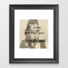 Loving An Outlaw Framed Art Print