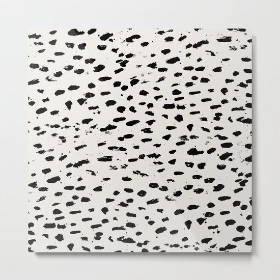 Modern Polka Dots Metal Print
