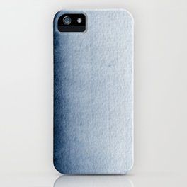 Indigo Vertical Blur Abstract iPhone Case