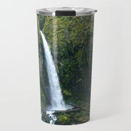 Waterfall.Oregon.Moss.Green.Forest.Enchanted.PNW. Travel Mug