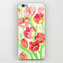Mothers Day Tulips iPhone Skin