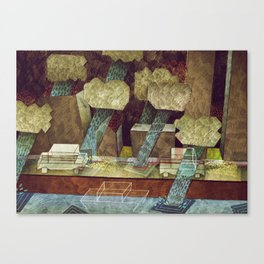 Rainy Road Canvas Print