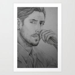 Milo Ventimiglia - Peter Petrelli Drawing Art Print