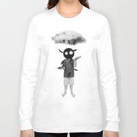rain Long Sleeve T-shirts featuring rain by Seamless