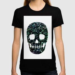 glitter skull T-shirt