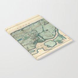 Egbert Viele 1865 Topographic Map of New York City Notebook