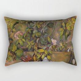 Paul Cézanne - Terracotta Pots and Flowers (Pots en terre cuite et fleurs) Rectangular Pillow