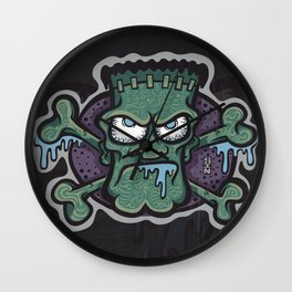TURN THE CRANK, IT'S TIME FOR FRANK! Wall Clock