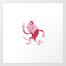 Dapper Bush Baby Art Print