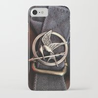 mockingjay iPhone & iPod Cases featuring Mockingjay by AndyGD