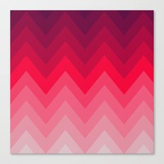 PINK OMBRÉ CHEVRON Canvas Print