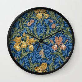 William Morris Flowers Wall Clock