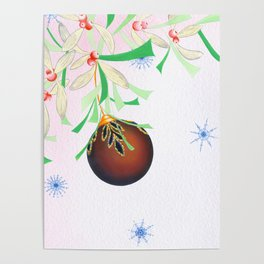 Tinsel and Bauble Poster