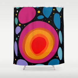 Galaxy Abstract Pattern Minimalist Decoration Shower Curtain