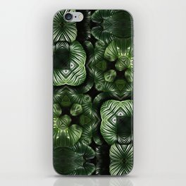 Green leaves pattern iPhone Skin